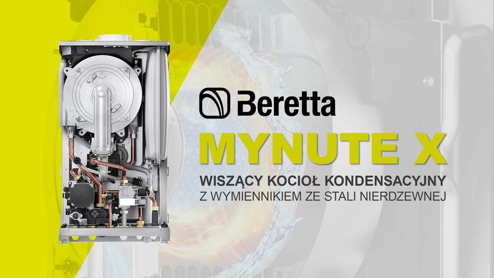 Beretta MYNUTE X - nowy wiszący kocioł kondensacyjny z wymiennikiem ze stali nierdzewnej